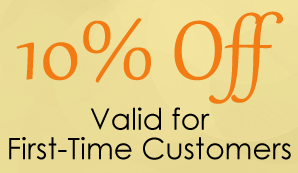10% Off - Valid for First-Time Customers
